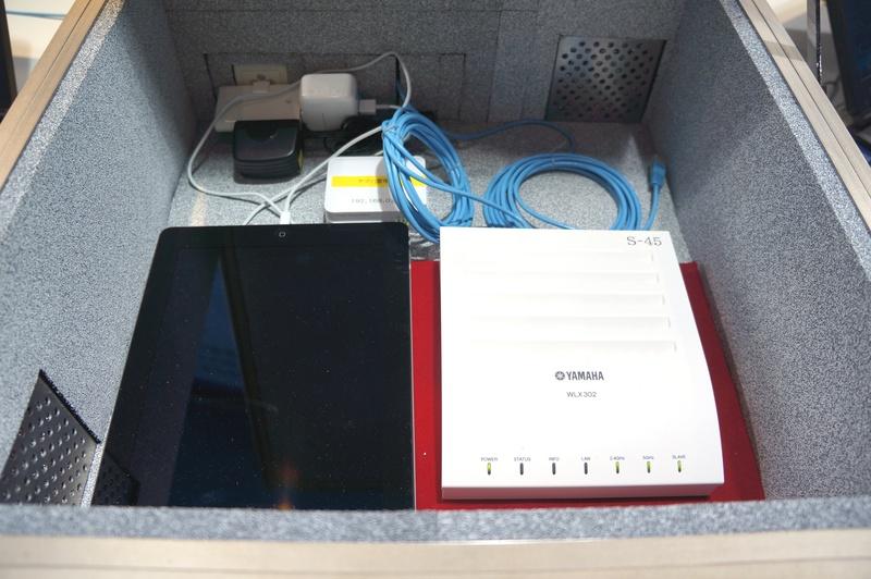 WLX302を電波暗室に閉じ込めた状態と開いた状態で電波状態を比較