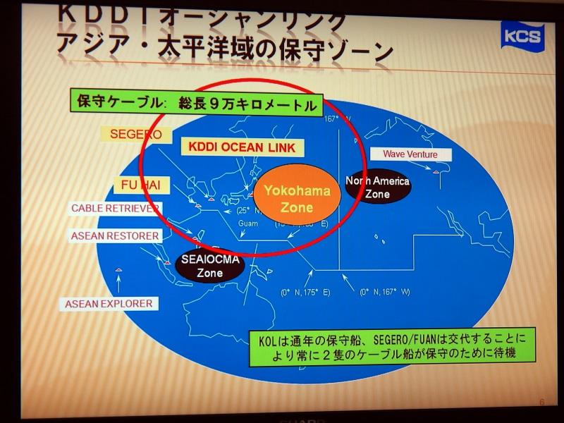 北太平洋の西側「Yokohama Zone」全体の保守を担当