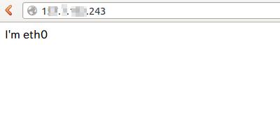 ウェブブラウザから1つめのIPv4アドレスにアクセスした場合