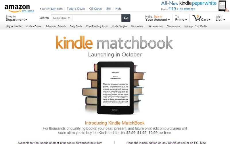 Kindle MatchBookのサイト