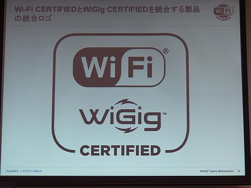 WiGigとWi-Fi両対応の統合ロゴ