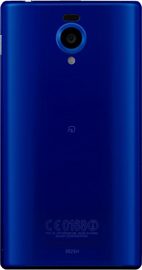 「AQUOS PHONE Xx 302SH」は、ラピスブルー/ホワイト/ブラック/ピンクのカラーラインナップ4色(写真はラピスブルー)。本体サイズは約70×132×9.9mm、重さは約147g(いずれも暫定値)