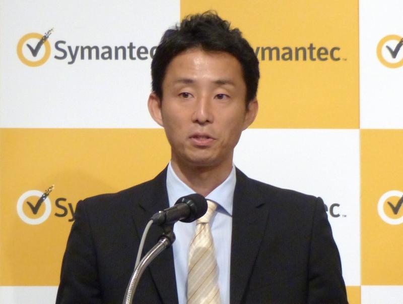 「2013年ノートン レポート」について解説した株式会社シマンテックの岩瀬晃氏(マーケティング統括本部本部長)