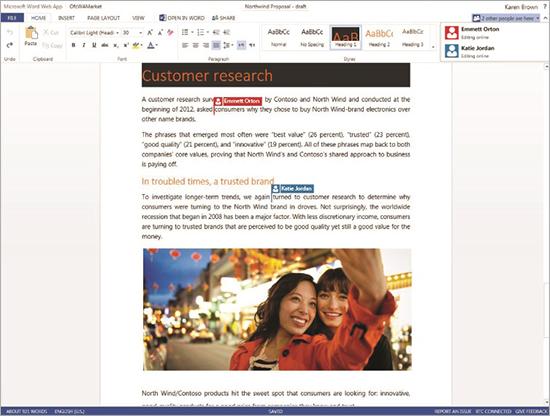 「Office Web Apps」でリアルタイム共同編集が可能に