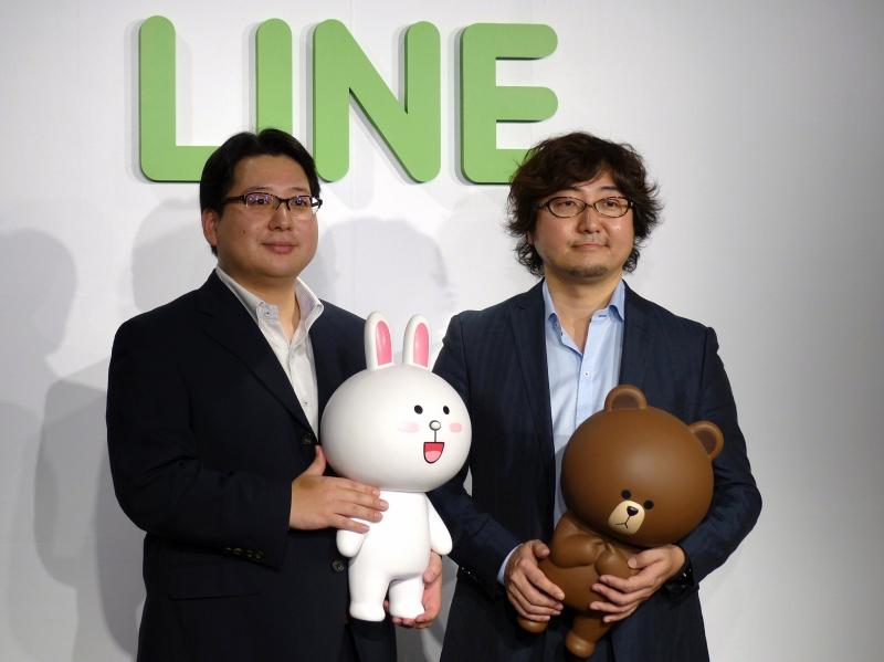 森川亮代表取締役社長(右)と舛田淳執行役員/CSMO(左))