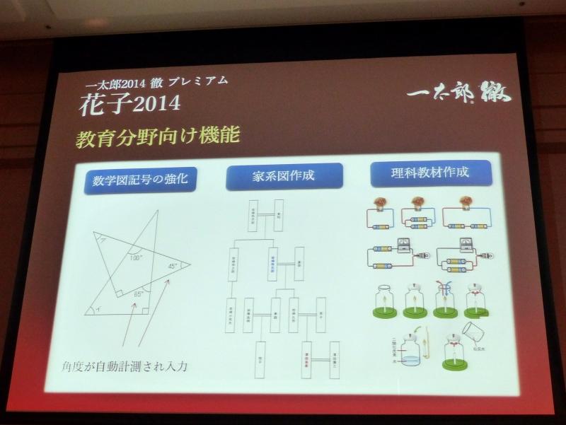 「花子2014」における教育分野向けの機能強化