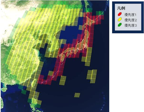 撮像地域 (C) GEO Grid/AIST