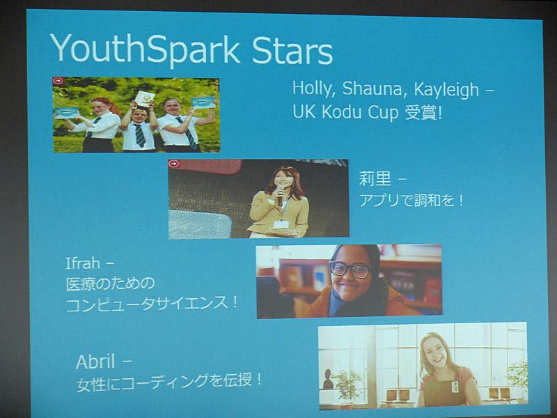 """""""Youth Sparkのスター""""たち"""