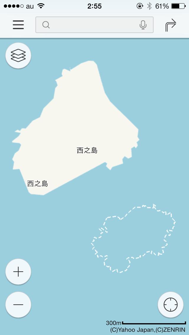 西之島周辺の新島