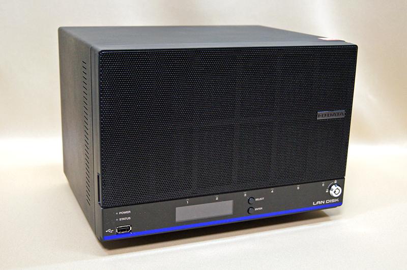 アイ・オー・データ機器の新型NAS「HDL6-H6」。高い信頼性を持つ6ベイのビジネス向けNASとなっている