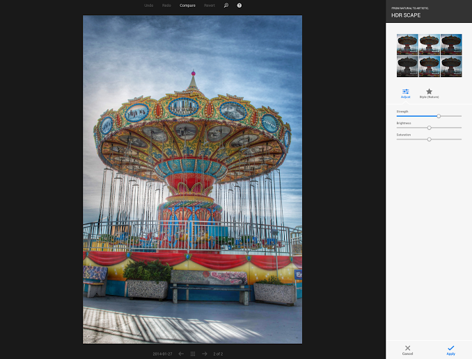「HDR Scape」の適用例(Google+公式Google+ページより画像転載)