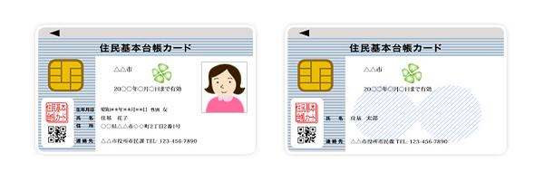 住民基本台帳カードは、写真付き・写真無しの2タイプから選択可能。どちらでもe-Tax申告に利用できる