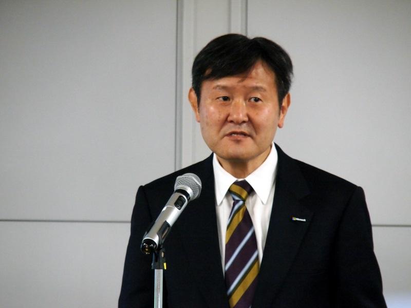 日本マイクロソフトの加治佐俊一氏