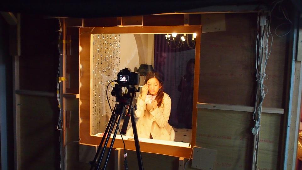 鏡はマジックミラーになっていて、正面からの撮影が可能