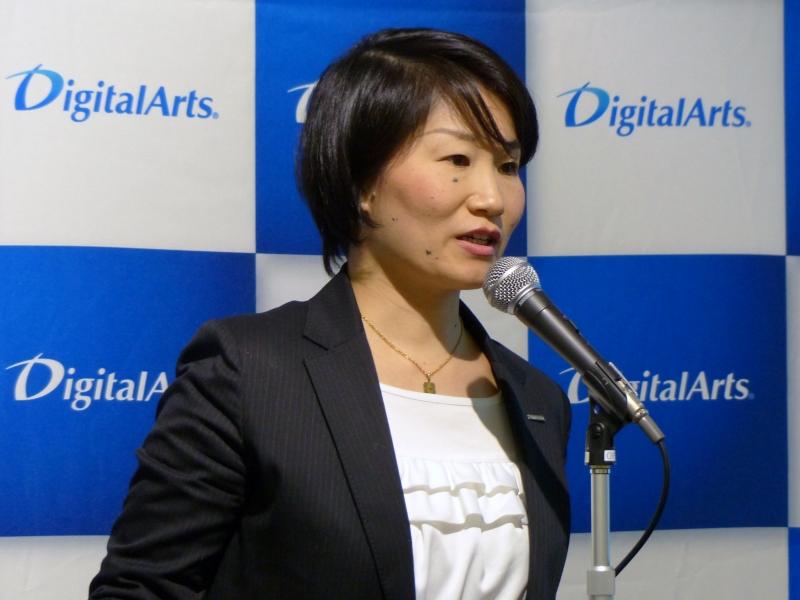 調査結果について説明したデジタルアーツの吉田明子氏