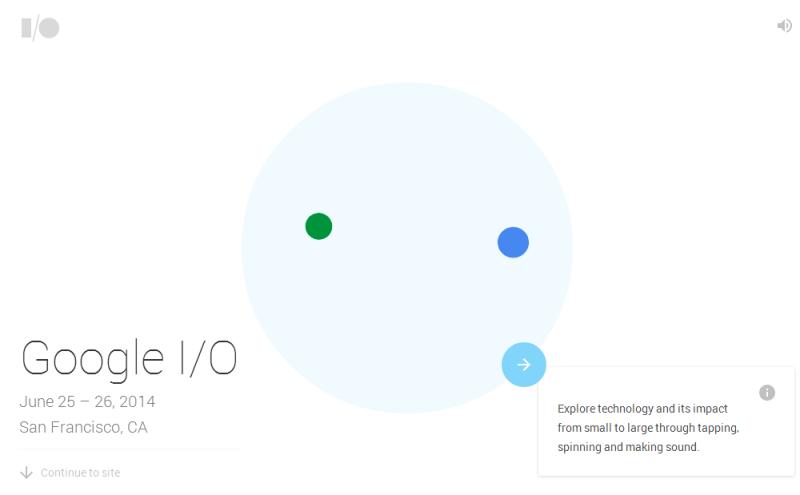 Google I/O 2014のサイト