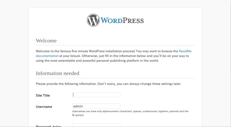 WordPressをセットアップする