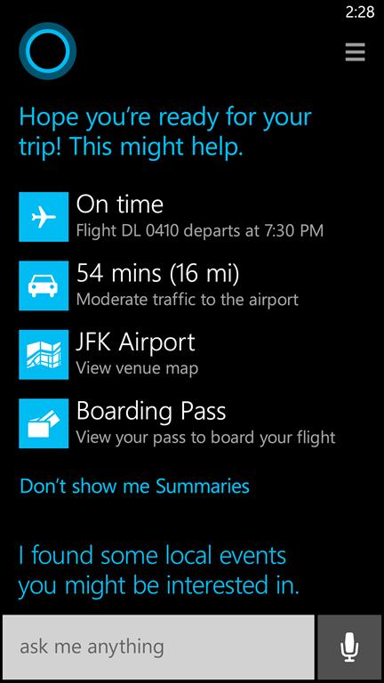 パーソナルデジタルアシスタント「Cortana」を搭載