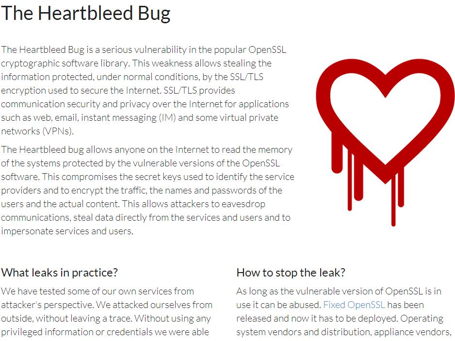 ファジングツールを開発・提供するCodenomicon社が「Heartbleed Bug」サイトを開設。このバグについてのQ&Aなどを掲載している