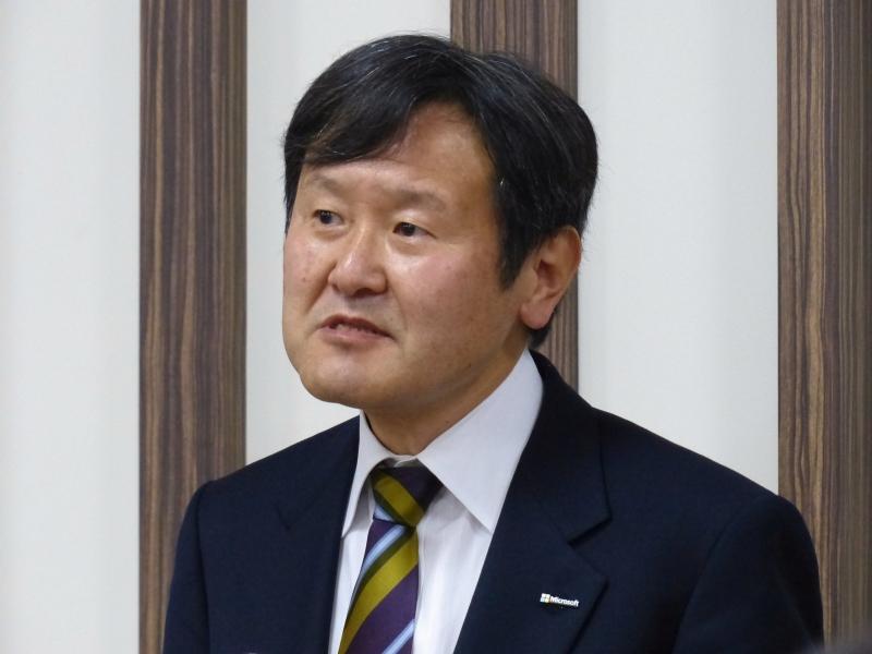 日本マイクロソフト株式会社最高技術責任者兼マイクロソフトディベロップメント株式会社代表取締役社長の加治佐俊一氏