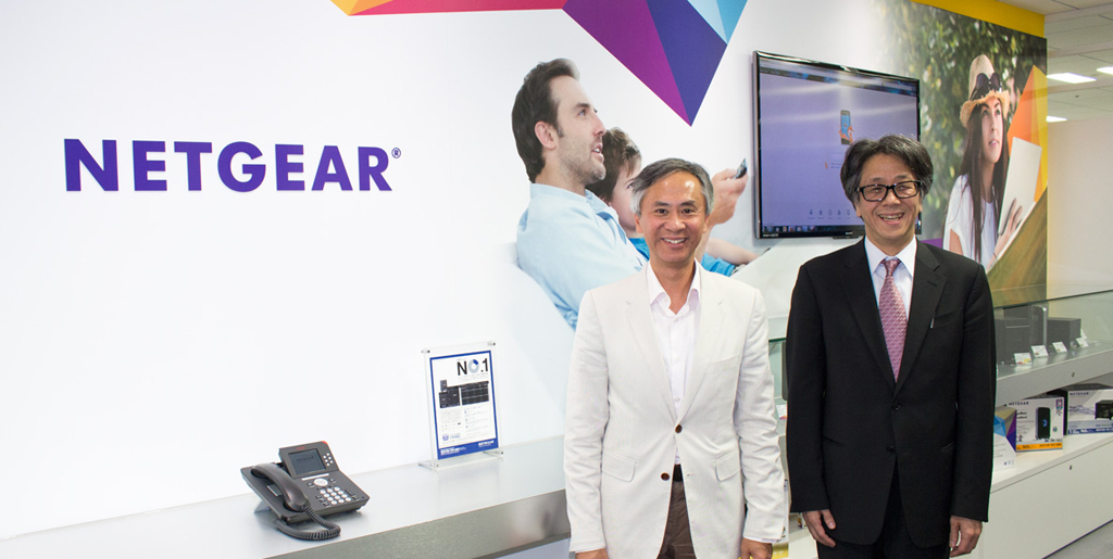 取材にご協力いただいた米NETGEAR社CEO パトリック・ロー氏(左)とネットギアジャパン合同株式会社社長 杉田哲也氏