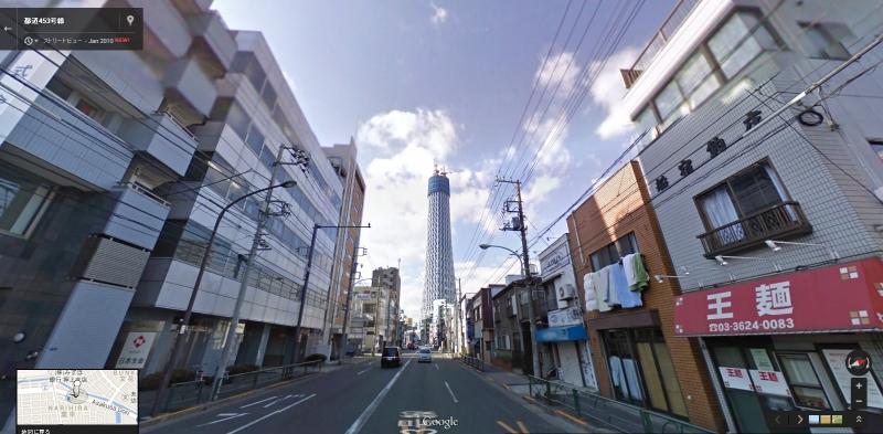 東京スカイツリー(2010年1月、提供:Google)