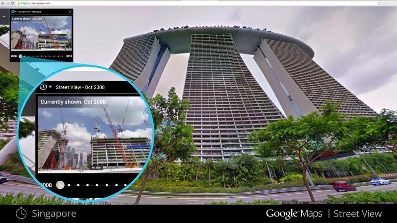 シンガポールの「マリーナベイサンズ」ホテル(Google Maps公式ブログより画像転載)