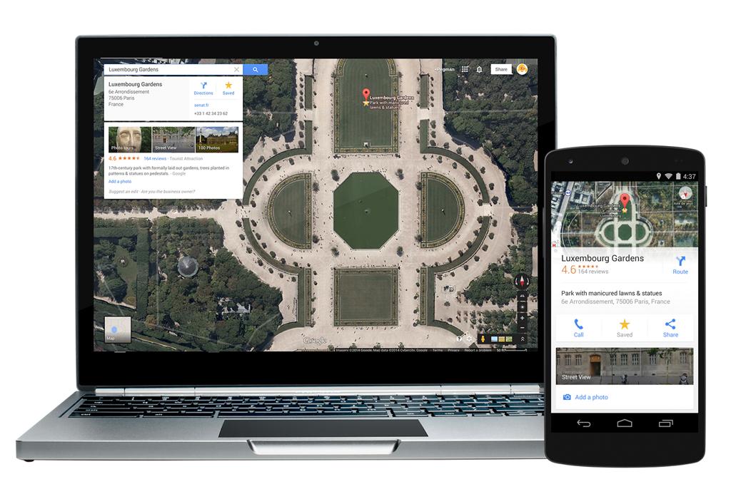 Googleマップで保存した場所は、同じGoogleアカウントを使用している複数デバイスで共有できる