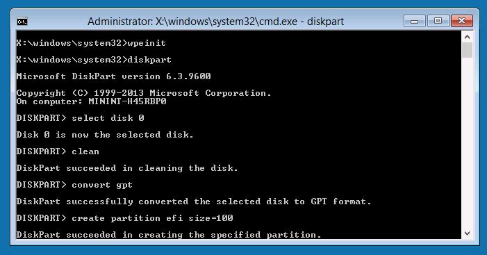 Windows PE環境は英語キーボードになるので注意