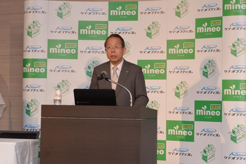 ケイ・オプティコム 代表取締役社長の藤野隆雄氏