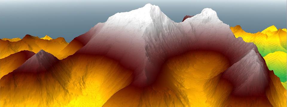 DEMデータで表現したエベレスト