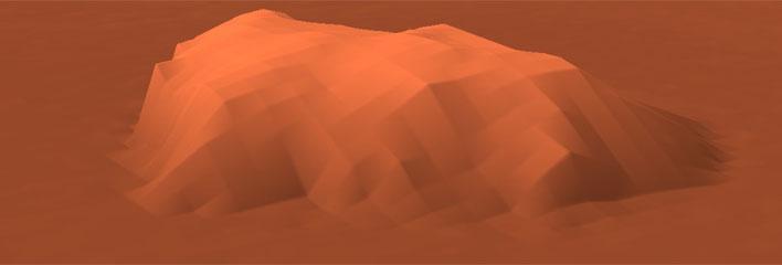 SRTMを使った3D地図(エアーズロック)