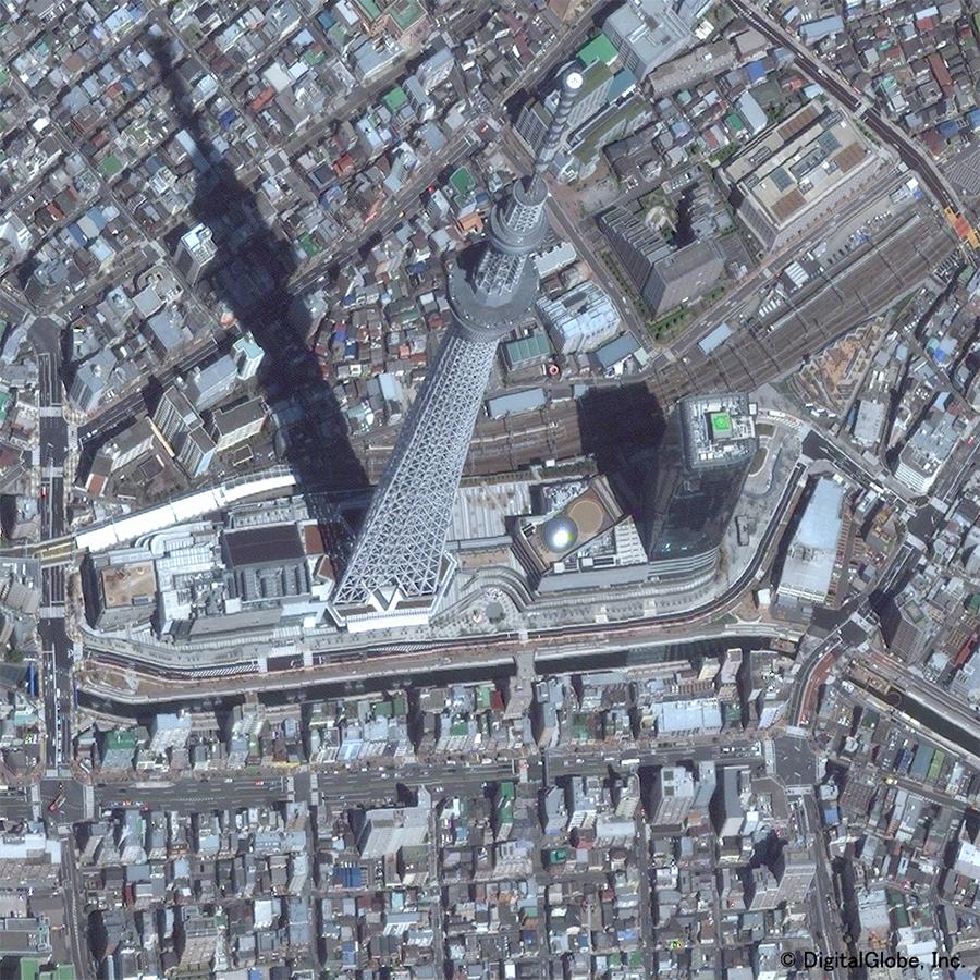 Digital Globe衛星画像のサンプル(東京スカイツリー)