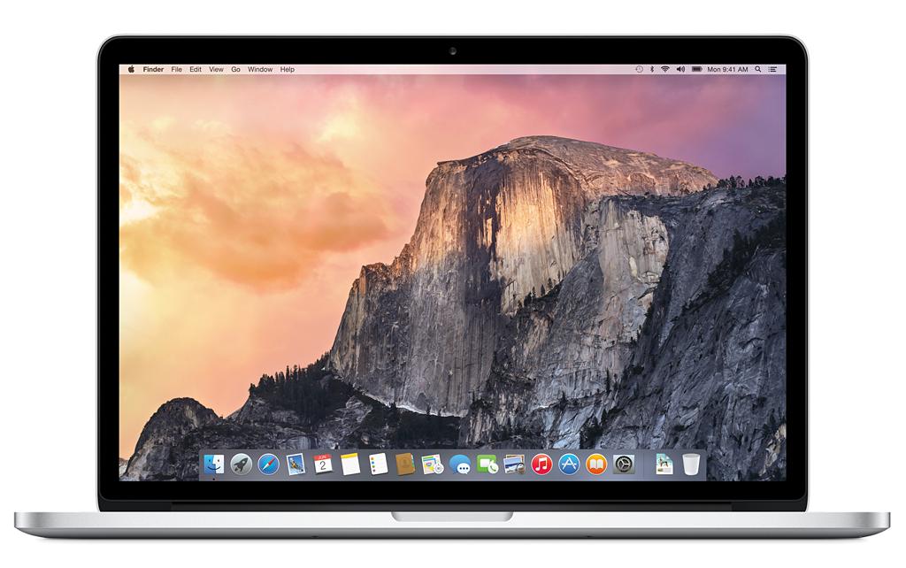 OS X Yosemiteのデスクトップ