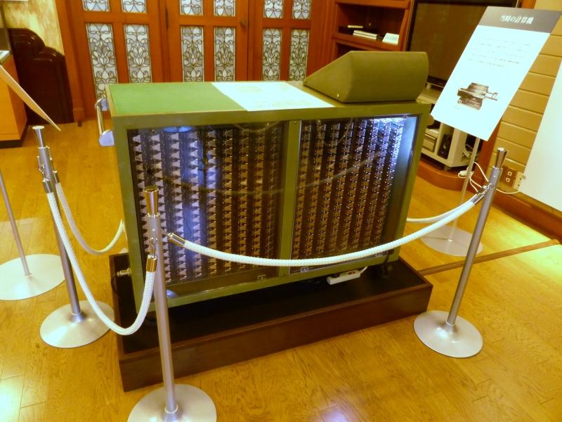 樫尾俊雄発明記念館に展示されている昔の計算機