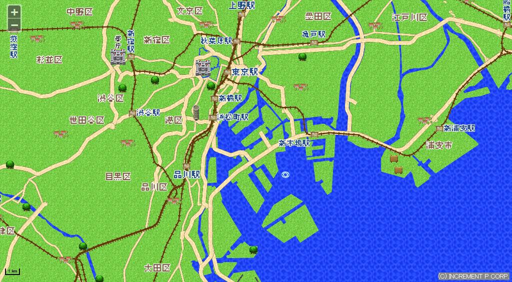 東京の広域図
