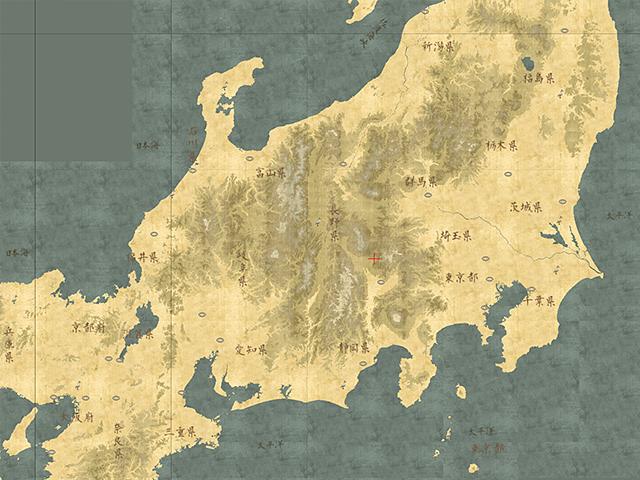 「古地図風マップ」の試作中サンプル