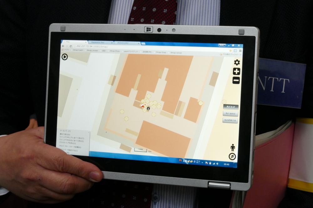屋内地図上に情報をマッピング
