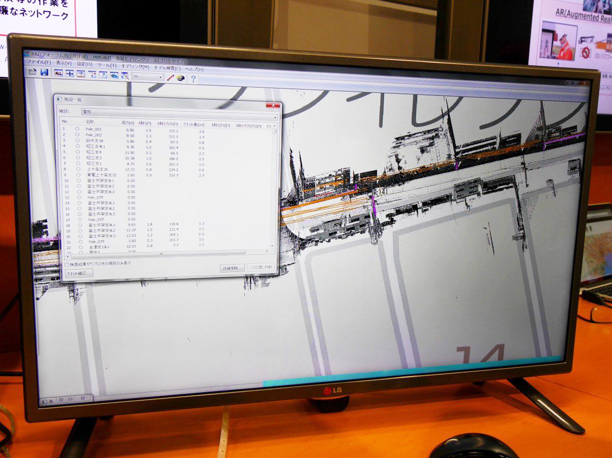 取得したデータをもとに3次元マップを生成。GPSの精度が高く、地図とズレてしまうという