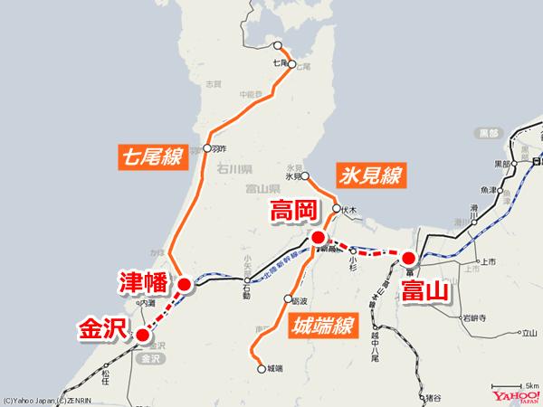 特例の対象となる路線と駅