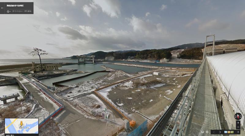 ベルトコンベア上からの景色(提供:Google)