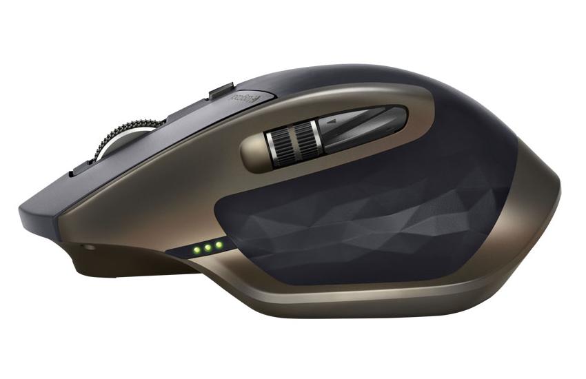 「ロジクール MX MASTER ワイヤレスマウス」横面