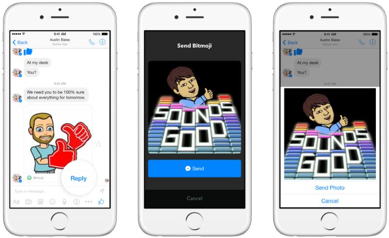 インストール済みのアプリの場合は「Reply」ボタンで同じアプリを使って返信できる