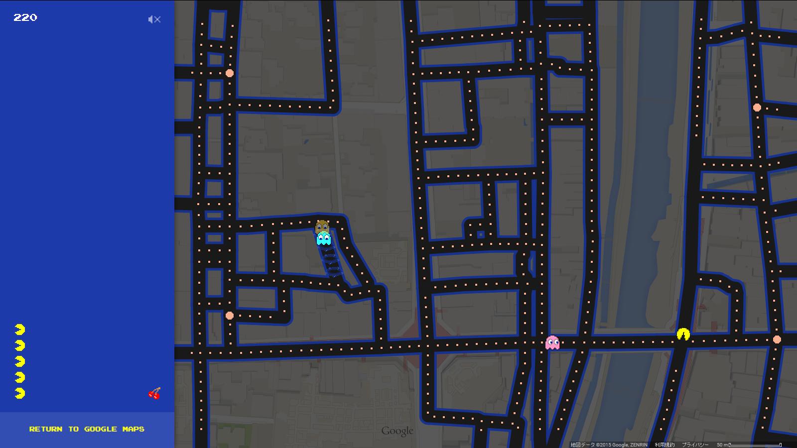 「Google パックマップ」