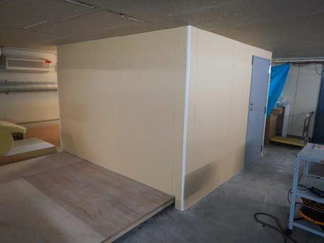 電磁波シールド壁試験室の外観1
