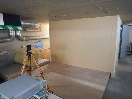 電磁波シールド壁試験室の外観2