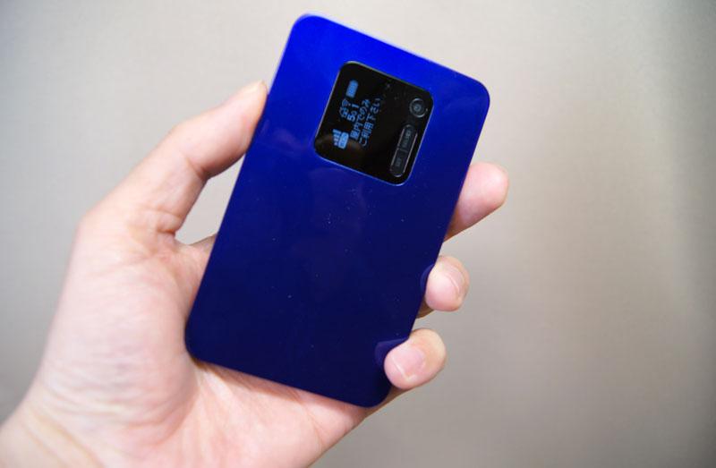 UQコミュニケーションズの220Mbps対応モバイルルーター「Speed Wi-Fi NEXT WX01」