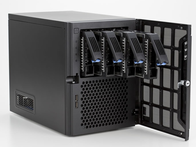 テックウインドが提供している、コンパクトなキューブ型サーバー「NOWing SERVER for SMB G3」