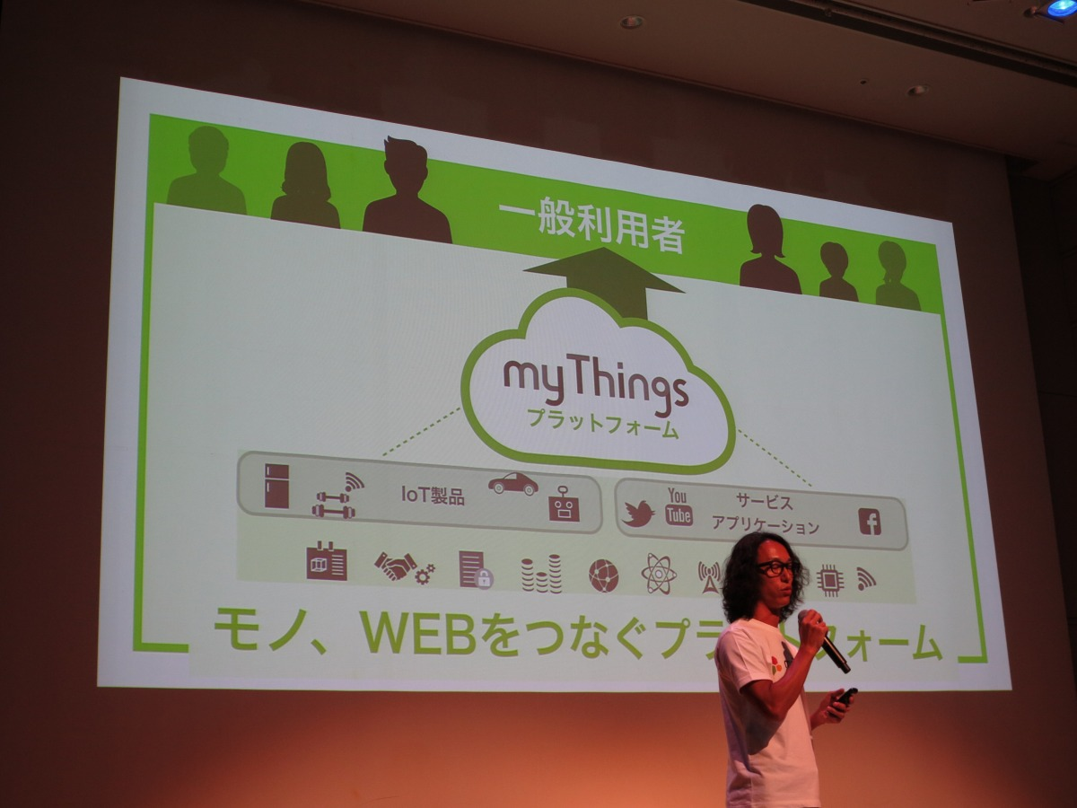 世の中にあるさまざまなウェブサービスやデバイスと「myThings」をハブにして連携させる