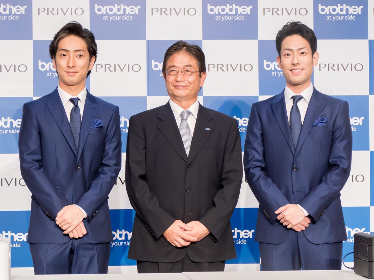 (左から)中村七之助氏、ブラザー販売株式会社代表取締役社長の片山俊介氏、中村勘九郎氏